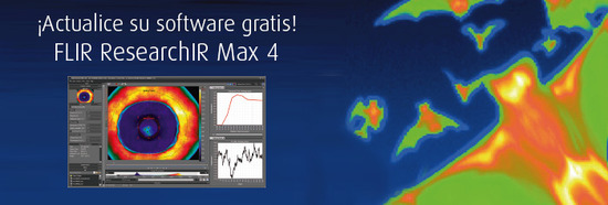 �Actualice su software gratis! FLIR ResearchIR Max 4