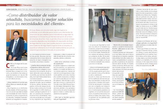 Entrevista a Juan Gualda en Cuadernos de Seguridad
