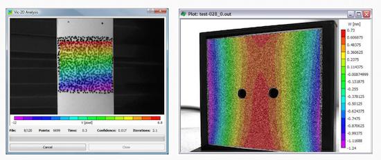 VIC2D: Sistema de videocorrelación digital de imágenes en 2 dimensiones