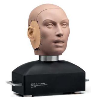 cabeza artificial binaural 45cb - GRAS