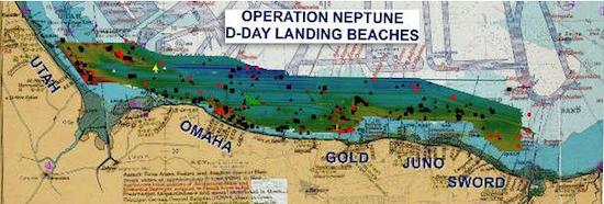 Dia D. Desembarco de Normandía. Usando la precisión para dibujar la historia