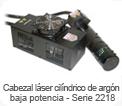 Cabezal láser cilíndrico de argón baja potencia - Serie 2218