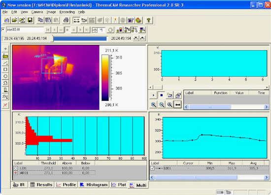 Termografia software ThermaCAM ResearchER