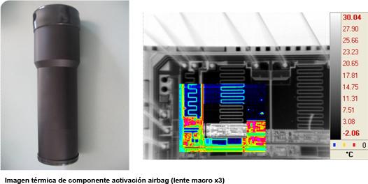 microscopia termografica airbag