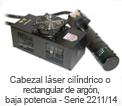 Cabezal l�ser cil�ndrico o rectangular de argon, baja potencia - Serie 2211/14
