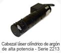 Cabezal laser cil�ndrico de arg�n - Serie 2213- JDSU